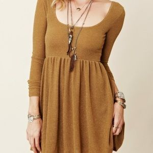 Free people long sleeve skater dress